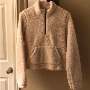 Hollister sherpa sweatshirt